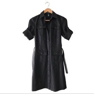 Lauren Ralph Lauren 100% Linen Dress 2P Black